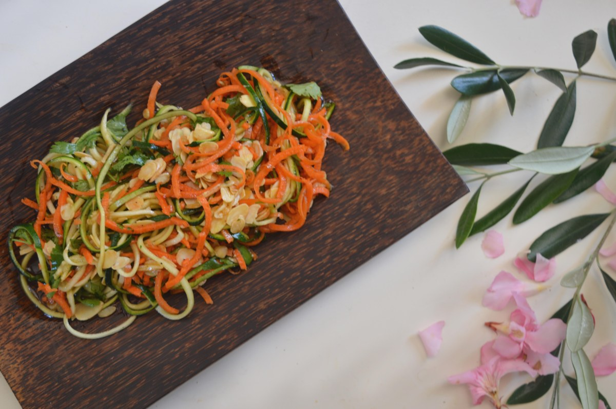 carrot and almond noodles